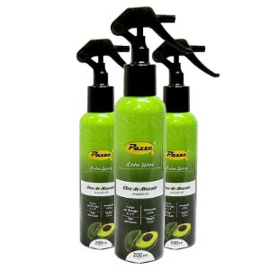 Kit 3 Óleo de Abacate Extra Virgem Spray Pazze 200ml