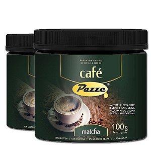 Kit 2 Café Instântaneo Café Matcha Pazze 100g