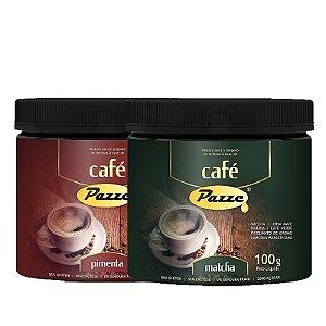 Kit 2 Café Instântaneo Café Pimenta + Matcha Pazze 100g