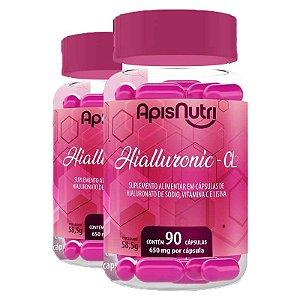 Kit 2 Hialluronic – CL 650mg Apisnutri 90 cápsulas