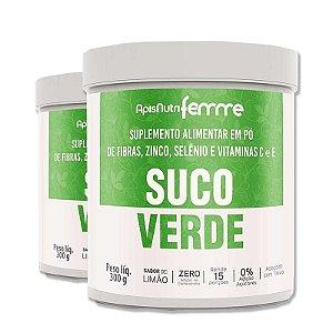 Kit 2 Suco Verde Solúvel Apisnutri 300g Adoçado com Stévia