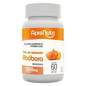 Óleo de Semente de Abóbora 1000mg Apisnutri 60 cápsulas