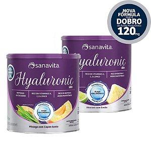 Kit 2 Hyaluronic ácido hialurônico Skin da Sanavita Abacaxi com Limão + Pessego com Capim Limão