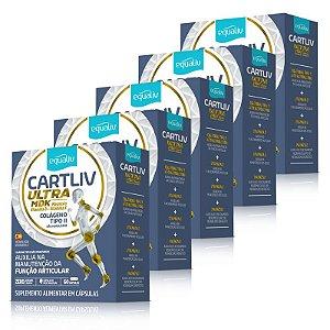 Kit 5 Cartiliv Ultra MDK Colageno Tipo 2 Equaliv 60 Cápsulas
