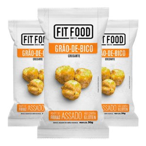 Kit 3 Snack Grao-De-Bico Levemente Salgado FIT FOOD 30g