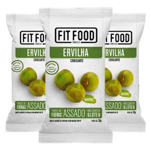 Kit 3 Snack Ervilha Wasabi FIT FOOD 30g