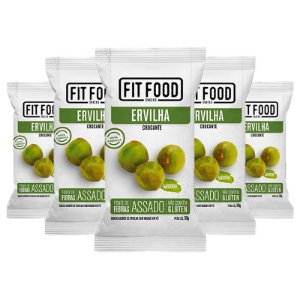 Kit 5 Snack Ervilha Wasabi FIT FOOD 30g