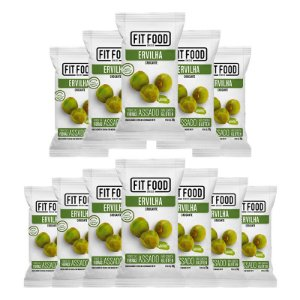 Kit 12 Snack Ervilha Wasabi FIT FOOD 30g