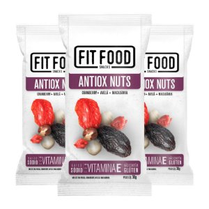 Kit 3 Snack Antiox Nuts FIT FOOD 30g