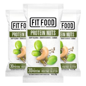 Kit 3 Snack Protein Nuts FIT FOOD 30g