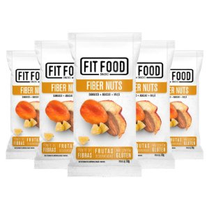Kit 5 Snack Fiber Nuts FIT FOOD 30g