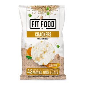 Cracker de Arroz com Feijão Fit Food 40g Curcuma