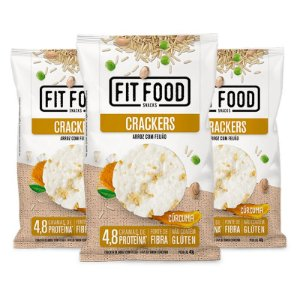 Kit 3 Cracker de Arroz com Feijão Fit Food 40g Curcuma