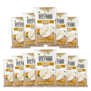 Kit 12 Cracker de Arroz com Feijão Fit Food 40g Curcuma
