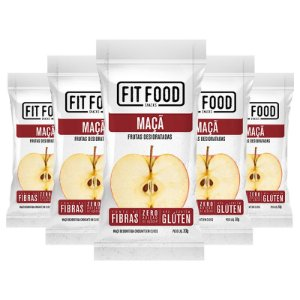 Kit 5 Maçã Snack Desidratada Fit Food 30g