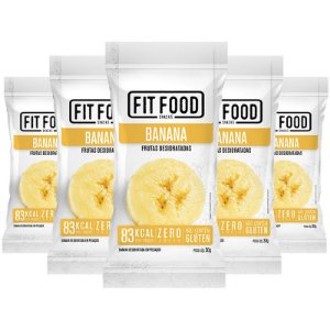 Kit 5 Banana Snack Desidratada Fit Food 30g
