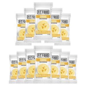 Kit 12 Banana Snack Desidratada Fit Food 30g