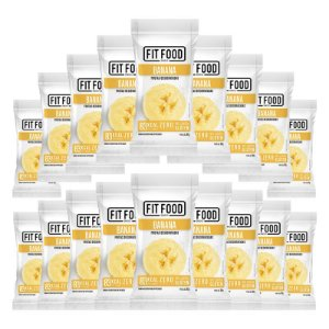 Kit 18 Banana Snack Desidratada Fit Food 30g