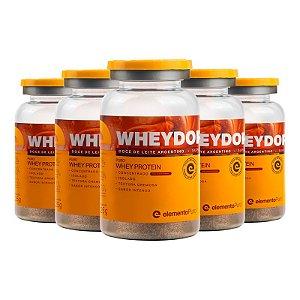 Kit 5 Wheydop X Whey Protein Monodose Elemento Puro 25g Doce de Leite Argentino