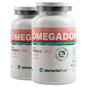 Kit 2 Ômegadop Omega 3 Cardio Elemento Puro 60 Cápsulas