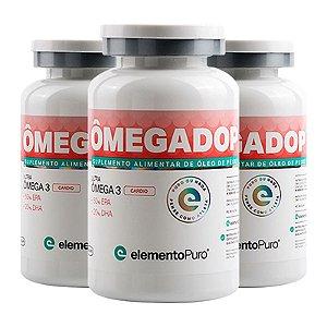 Kit 3 Ômegadop Omega 3 Cardio Elemento Puro 60 Cápsulas