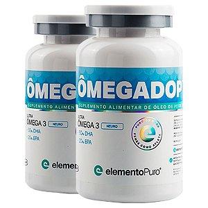 Kit 2 Ômegadop Omega 3 Neuro Elemento Puro 60 Cápsulas