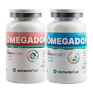 Kit Ômegadop Cardio + Neuro 60 Cápsulas Elemento Puro