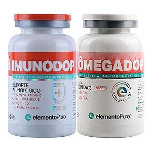 Kit Imunodop 120 Cápsulas + Omegadop Cardio 60 cápsulas Elemento Puro