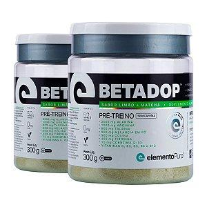 Kit 2 Betadop Pré Treino Sem Cafeina Elemento Puro 300g