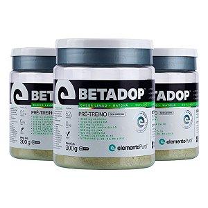 Kit 3 Betadop Pré Treino Sem Cafeina Elemento Puro 300g