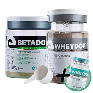 Kit Wheydop ISO Whey Protein 900g + Betadop Pré Treino Sem Cafeina Elemento Puro Tutti-frutti 300g + Bônus