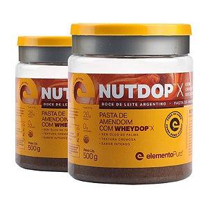 Kit 2 Nutdop Pasta de Amendoim Elemento Puro 500g