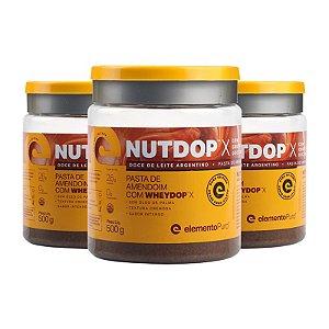Kit 3 Nutdop Pasta de Amendoim Elemento Puro 500g