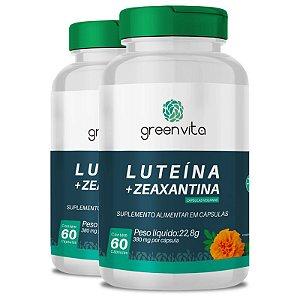 Kit 2 Luteína + Zeaxantina Greenvita 60 cápsulas Veganas