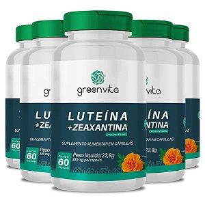 Kit 5 Luteína + Zeaxantina Greenvita 60 cápsulas Veganas