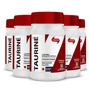 Kit 5 Taurine 500mg Vitafor 30 cápsulas
