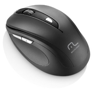Mouse Sem Fio Multilaser 2.4 Ghz Comfort 6 Botoes Preto Usb - MO237
