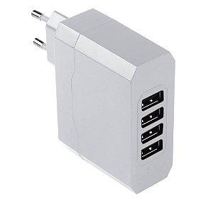 Carregador de Parede Multilaser com 4 Saídas USB/ Bivolt/ 4.8A - CB076