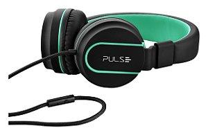 Fone de ouvido Pulse Preto e Verde - PH159