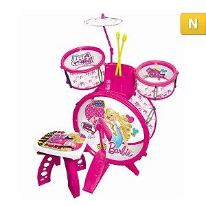 Bateria Infantil Barbie Rockstar Barão Toys