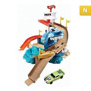 Pista Hot Wheels Mattel Ataque Tubarão