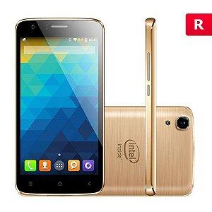 Smartphone Qbex X-Gold 5'' 16GB 3G Wi-Fi Câmera 8MP Dourado
