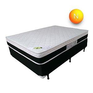 Colchão Roma Casal Branco Luckspuma Molas Ensacadas Pillow One Side 138x188x24cm
