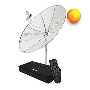 Kit Antena Parabólica Analógica Cromus Monoponto 1,50m Cr15