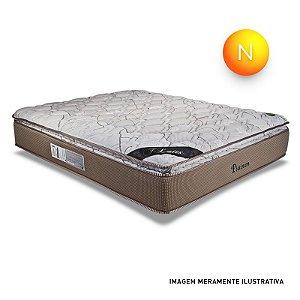 Colchão King Size Platinun Mola Ensacada Pillow Top One Side Luckspuma + Box