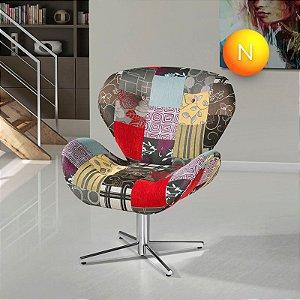 Poltrona Decorativa American Comfort Elisa Jacquard Patch Work