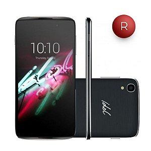 """Smartphone Alcatel Idol 3 Preto com Tela 4.7"""", Dual Chip, 4G, Câmera 13MP, Android 5.0 e Processador Quad Core de 1.2GHz"""