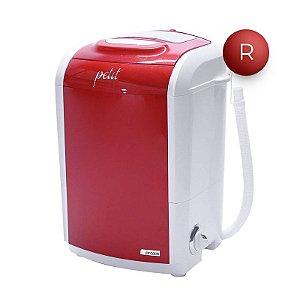 Mini Lavadora de Roupas Praxis Petit 1,2Kg Vermelha