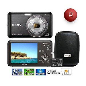 Câmera Digital Sony DSC-W310/B Preta 12 MP LCD 2,7 com Cartão Memória 4GB