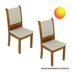 Cadeira Premium Fit Rústico Bege Madesa C/2